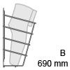 HETTICH Schuhablage einreihig, B 690 mm 1-fach Schuhabl. CHR 690x265x145