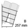 HETTICH Schuhablage zweireihig, B 257 mm 2-fach Schuhabl. CHR 257x285x244
