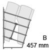 HETTICH Schuhablage zweireihig, B 457 mm 2-fach Schuhabl. CHR 457x285x244