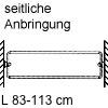 Schuhregal, ausziehbar Schuhablage, L 83 cm - Anbringung seitlich - grau