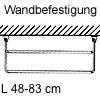 Schuhregal, ausziehbar Schuhablage, L 48 cm - Wandbefestigung - grau