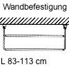 Schuhregal, ausziehbar Schuhablage, L 83 cm - Wandbefestigung - grau