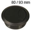 Kunststoff-Kabeldurchlass schwarz 80/93 mm Kabeldurchlass Kunststoff schwarz 80/93 mm