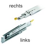 Kugelvollauszug Accuride Schienen-Set DZ9308-0012 Schwerlastschienen für Einbaulänge 305 mm, Tragkraft 227 kg