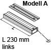 Bremsklappenhalter mit Seilzug, Ausführung links Modell A lichte Korpustiefe min. 230 mm, links