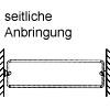 Schuhregal, ausziehbar Schuhablage, L 48 cm - Anbringung seitlich - grau
