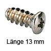 Panheadschraube Ø 7.5 mm - L13 mm Kreuzschlitz 13/6,3 mm