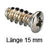 Panheadschraube Ø 7.5 mm - L15 mm Kreuzschlitz 15/6,3 mm
