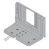Aufnahmewinkel unten mit Kabel für 1 Antriebseinheit Blum Z10D0311