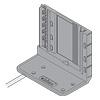 Aufnahmewinkel unten mit Kabel für 2 Antriebseinheiten Blum Z10D7201.01
