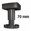 Sockelverstellfuß Set Korrekt 70, schwarz Ø 78 mm Sockelf. Gleiter Kst. schw. H 62-86 mm / 78