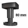Sockelverstellfuß Set Korrekt 80, schwarz Ø 80 mm Sockelf. Gleiter Kst. schw. H 74-110 mm / 80