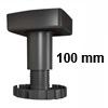 Sockelverstellfuß Set Korrekt 100, schwarz Ø 80 mm Sockelf. Gleiter Kst. schw. H 89-125 mm / 80
