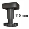 Sockelverstellfuß Set Korrekt 110, schwarz Ø 80 mm Sockelf. Gleiter Kst. schw. H 99-135 mm / 80