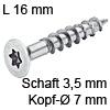 Senkkopfschraube verzinkt Ø 3,5 mm L 16 mm Spax Seko IS15 verz. 7 / 3.5 x 16 mm