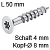 Senkkopfschraube verzinkt Ø 4 mm L 50 mm Spax Seko IS20 verz. 8 / 4 x 50 mm