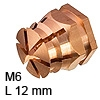 Spreizmuffe Messing M6 8 x 12 mm Spreizm. Ms. bl. M6 B=8/12 mm