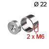 Stangenhalter Rohr Ø 22 mm - Hülse Ø 30 x 20 mm Halter Edelstahl f. Rohr Ø 22 mm