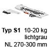 T60B3130 TIP-ON BLUMOTION Einheit, Typ S1 Set TipOn Blumotion 10-20 kg / NL 270-349 mm, R735