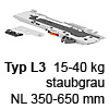 T60B3530 TIP-ON BLUMOTION Einheit, Typ L3 Set TipOn Blumotion 15-40 kg / NL 350-600 mm, R737