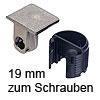 Tab 18 Verbinder ohne Verriegelung, ab 19 mm Dicke zum Schrauben Tablarverbinder Tab 18 Schraub. vernickelt 19 mm