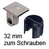 Tab 18 Verbinder ohne Verriegelung, ab 32 mm Dicke zum Schrauben Tablarverbinder Tab 18 Schraub. vernickelt ab 32 mm