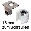 Tab 18 Verbinder mit Verriegelung, ab 16 mm Dicke zum Schrauben Tablarverriegelung Tab 18 Schraub. vernickelt 16 mm