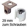 Tab 18 Verbinder mit Verriegelung, ab 29 mm Dicke zum Schrauben Tablarverriegelung Tab 18 Schraub. vernickelt 29 mm