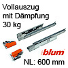 600 mm Blum Tandem Vollauszug 30 kg + Dämpfung 560H6000B 560H6000B