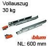 560H6000C Vollauszug ohne Dämpfung Blum Tandem 560H, 30 kg / NL 600 mm