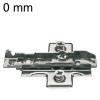Kreuzmontageplatte vormontiert, für Mittelanschlag - 0 mm Distanz 1D-Kreuz-MPL Zwillingsan. inkl. Euroschrauben, H 0 - HV +/-2