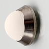 Edelstahl Tür Minidämpfer gebürstet / Gummi weiß Wandpuffer Edelst. matt/w. Ø 20x10 mm inkl. Klebepad + Schraube/Dübel