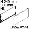 Vionaro Zargen Höhe 249 mm - NL 500 mm, snow white Vion. Stahlzarge H249 Set 500 mm, weiß