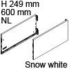 Vionaro Zargen Höhe 249 mm - NL 600 mm, snow white Vion. Stahlzarge H249 Set 600 mm, weiß