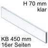 ZE7V338G niedriges Glaselement klar KB 450 mm LBX pure/free Klarglas H 70 / L 338 mm