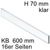ZE7V488G niedriges Glaselement klar KB 600 mm LBX pure/free Klarglas H 70 / L 488 mm