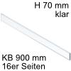 ZE7V788G niedriges Glaselement klar KB 900 mm LBX pure/free Klarglas H 70 / L 788 mm