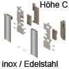 ZI7.2CI0 Vorderstück-Set für Innenauszug C mit Einschub, inox Fronthalter (li/re) LBX pure / free Innenschub C, IN