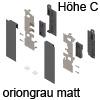 ZI7.2CS0 Vorderstück-Set für Innenauszug C mit Einschub, oriongrau Fronthalter (li/re) LBX pure / free Innenschub C, OG
