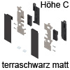 ZI7.2CS0 Vorderstück-Set für Innenauszug C mit Einschub, terraschwarz Fronthalter (li/re) LBX pure / free Innenschub C, TS