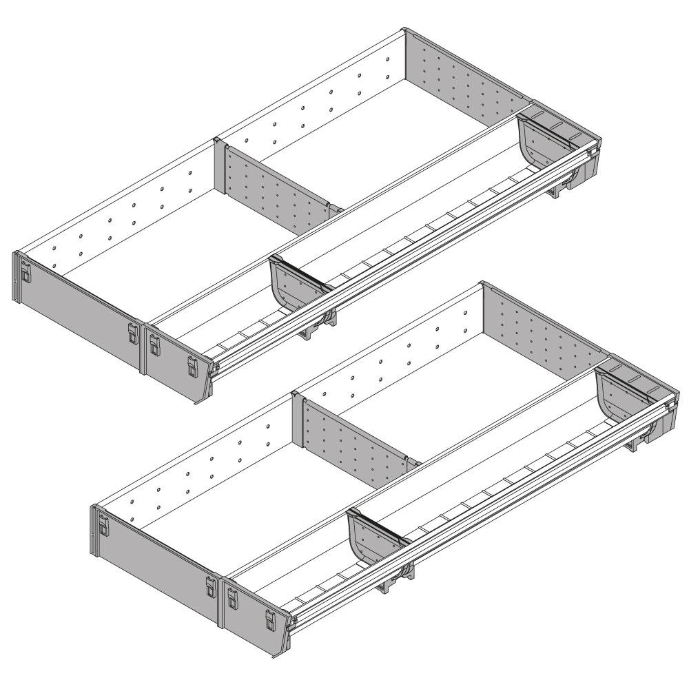 Nennlänge 450 mm Blum #ZSI.90VEI4 ORGA-LINE Schalen-Set Korpusbreite 900 mm