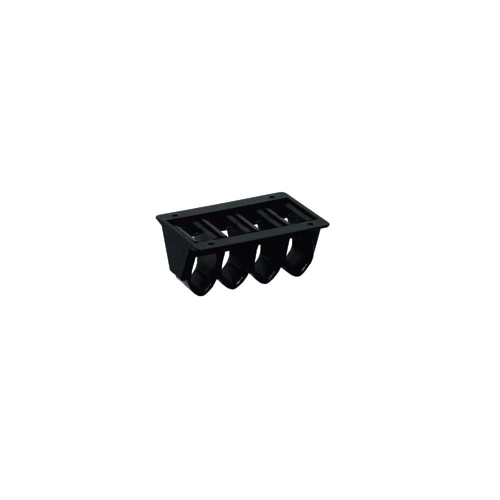 Kabelklemme Exit H 30 mm für 5 x 4 Kabel schwarz im LIGNO Shop kaufen